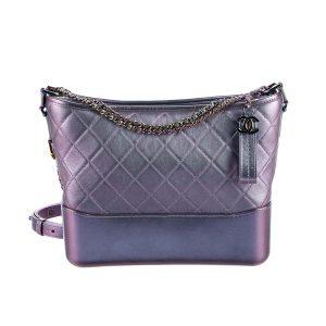 Chanel Gabrielle Hobo Medium Bag in Goatskin with Gold Silver-tone Metal