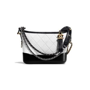 Chanel Gabrielle Hobo Small Bag in Quilted Goatskin Leather