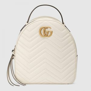 Gucci GG Marmont Quilted Backpack in Soft Matelassé Chevron Leather