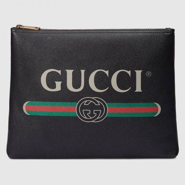 Gucci GG Unisex Gucci Print Leather Medium Portfolio