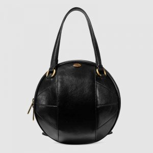 Gucci GG Unisex Basketball Shaped Tote Bag-Black
