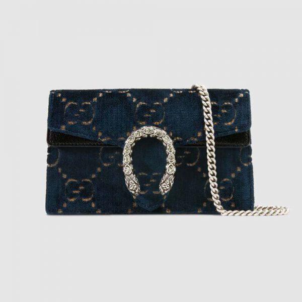 Gucci GG Women Dionysus GG Velvet Super Mini Bag
