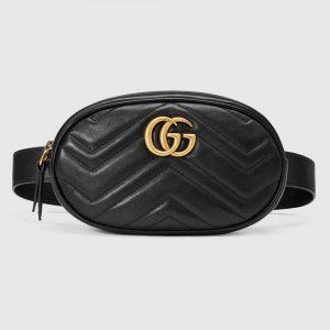 Gucci GG Unisex GG Marmont Matelassé Leather Belt Bag