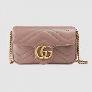 Gucci GG Women GG Marmont Matelassé Leather Super Mini Bag