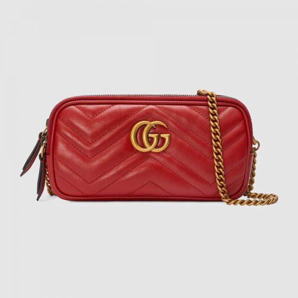 Gucci GG Women GG Marmont Mini Chain Bag