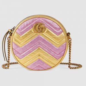 Gucci GG Women GG Marmont Mini Round Shoulder Bag