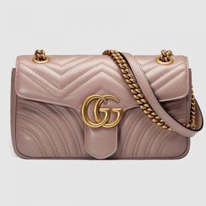 Gucci Women GG Marmont Small Matelassé Shoulder Bag