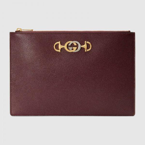 Gucci GG Unisex Gucci Zumi Grainy Leather Pouch