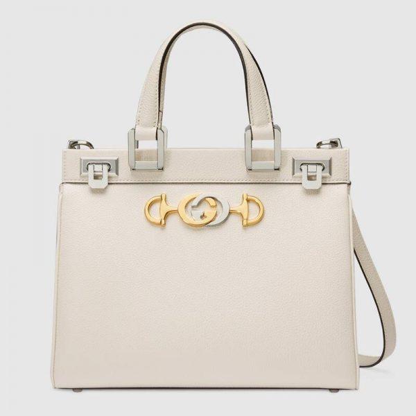 Gucci GG Women Gucci Zumi Grainy Leather Small Top Handle Bag