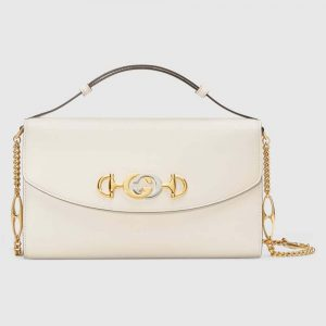 Gucci GG Women Gucci Zumi Smooth Leather Small Shoulder Bag