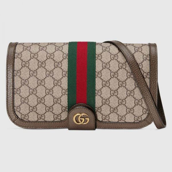 Gucci GG Unisex Ophidia GG Messenger Bag-Brown