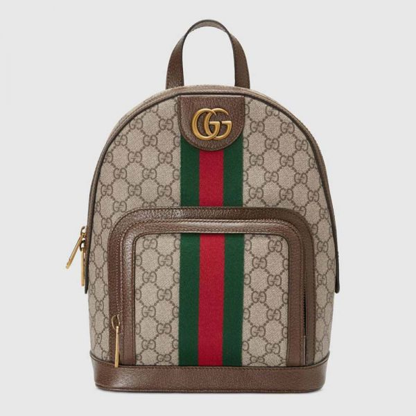 Gucci GG Unisex Ophidia GG Small Backpack-Brown