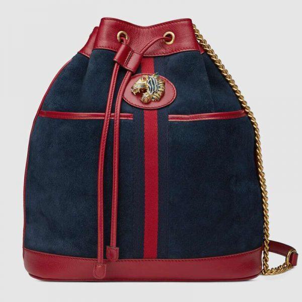 Gucci GG Women Rajah Medium Bucket Bag
