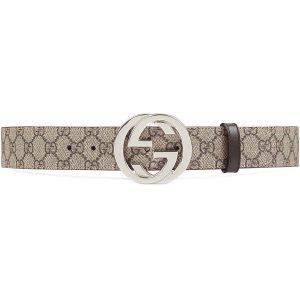 Gucci Unisex Reversible GG Supreme Belt