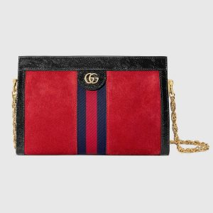 Gucci Ophidia GG Supreme Canvas Small Shoulder Bag with Stripe