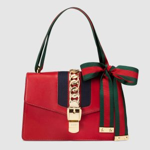 Gucci Sylvie Small Shoulder Bag in Smooth Leather