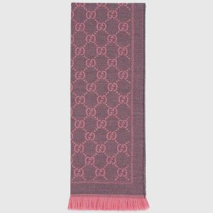 Gucci Women GG Jacquard Pattern Knitted Scarf