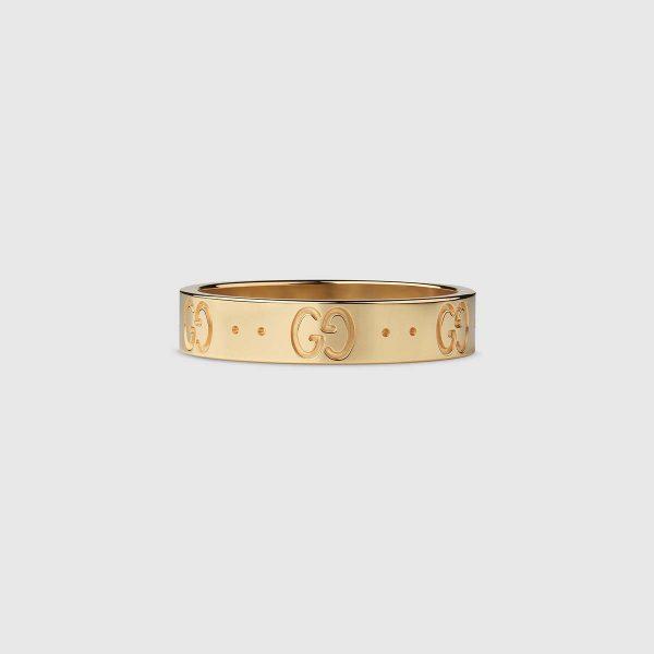 Gucci Women Lcon Thin Band Jewelry Gold