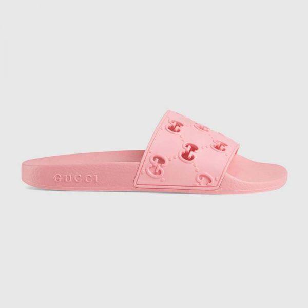 Gucci Women's Rubber GG Slide Sandal
