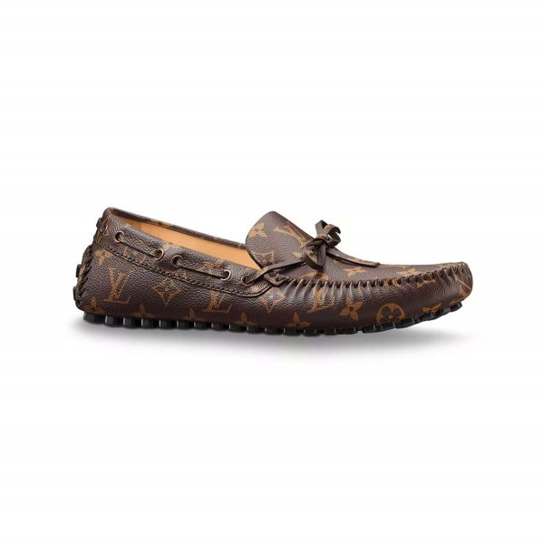 Louis Vuitton LV Men Arizona Moccasin Shoes Brown