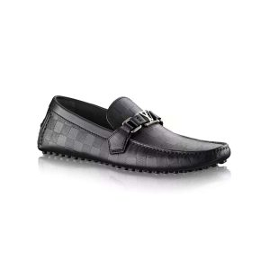 Louis Vuitton LV Men Hockenheim Moccasin Shoes Black