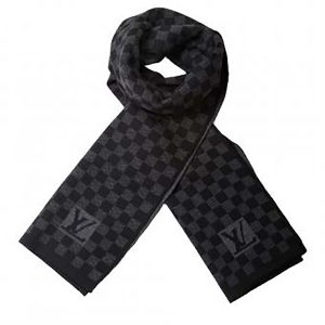 Louis Vuitton LV Men Petit Damier Scarf NM Wool-Black