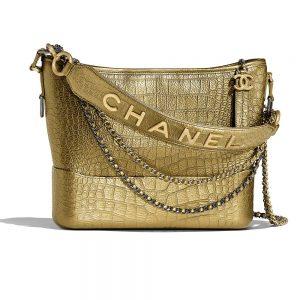 Chanel Women Chanel's Gabrielle Large Hobo Bag-Gold