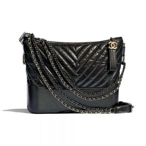 Chanel Women Chanel's Gabrielle Large Hobo Bag in Aged Calfskin Leather-Black