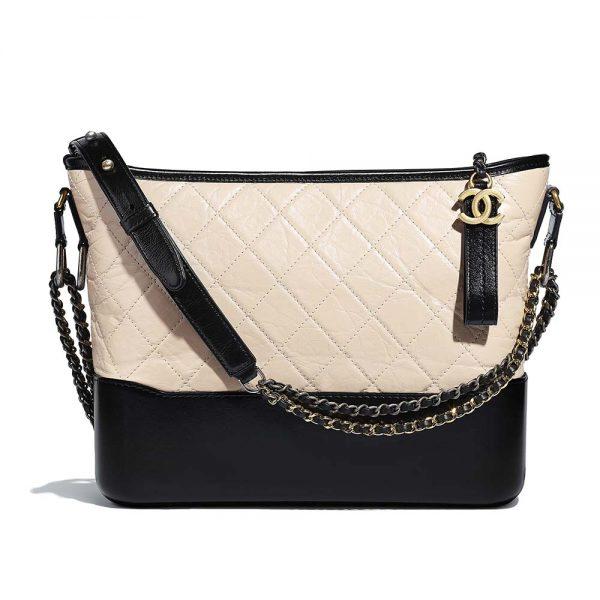 Chanel Women Chanel's Gabrielle Large Hobo Bag in Calfskin Leather-Beige