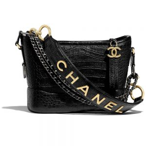 Chanel Women Chanel's Gabrielle Small Hobo Bag-Black
