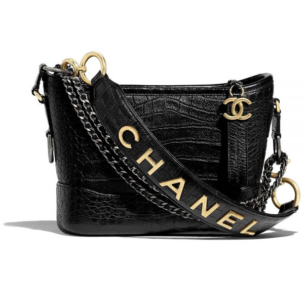 Chanel Women Chanel's Gabrielle Small Hobo Bag-Black