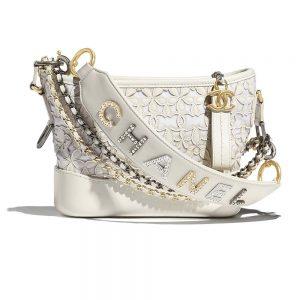 Chanel Women Chanel's Gabrielle Small Hobo Bag-White