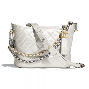 Chanel Women Chanel's Gabrielle Small Hobo Bag in Aged Calfskin Leather