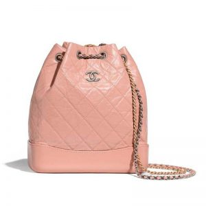 Chanel Women Chanel's Gabrielle Small Hobo Bag in Aged Smooth Calfskin-Pink