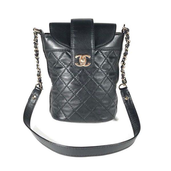 Chanel Women Hippie Backpack Bag in Calfskin Leather-Black