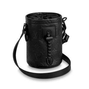 Louis Vuitton LV Men Chalk Nano Bag in Monogram Shadow Calf Leather