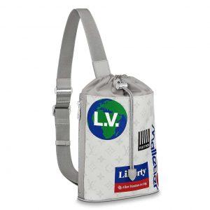 Louis Vuitton LV Men Chalk Sling Bag in Monogram Canvas