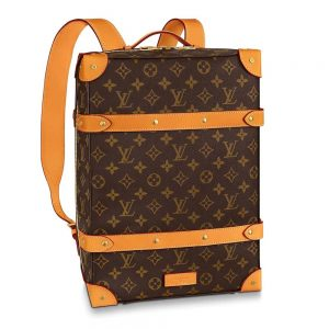 Louis Vuitton LV Men Soft Trunk Backpack PM in Monogram Canvas-Brown