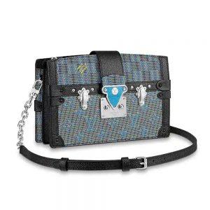Louis Vuitton LV Women Trunk Clutch Bag with Monogram LV Pop Print-Blue