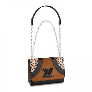 Louis Vuitton LV Women Twist MM Bag-Brown