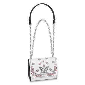 Louis Vuitton LV Women Twist PM Handbag in Epi Leather-White