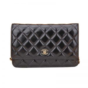 Chanel Women Flap Bag in Calfskin Leather-Black