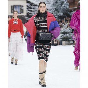 Chanel Women Mixed Fibers Red Purple & Fuchsia Jacket
