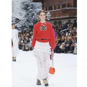 Chanel Women Pullover Wool and Mixed Fibers & Cashmere Sweater-Red