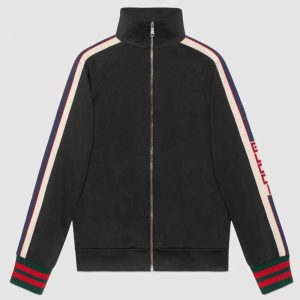 Gucci Men Technical Jersey Jacket-Black
