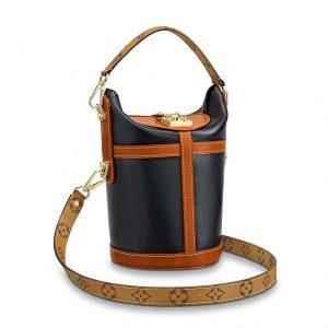 Louis Vuitton LV Men Duffle Bag Handbag in Smooth Calfskin Leather-Brown