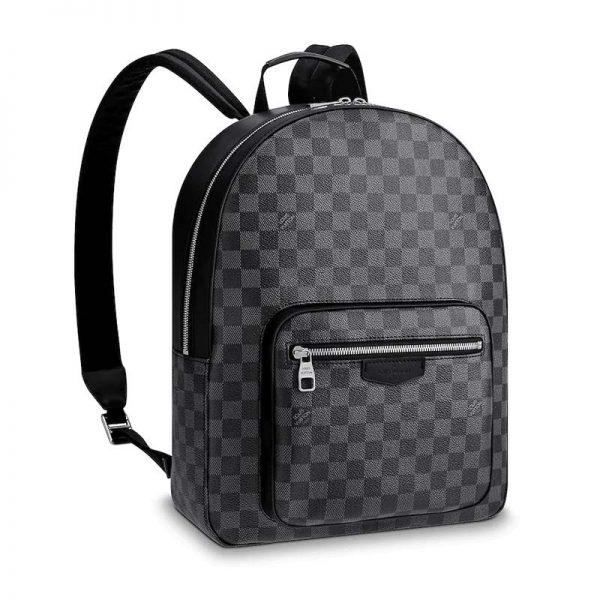 Louis Vuitton LV Men Josh Backpack in Damier Graphite Canvas-Grey