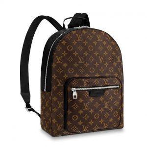Louis Vuitton LV Men Josh Backpack in Monogram Macassar-Brown