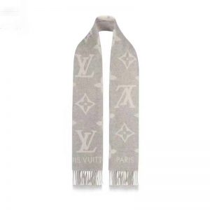 Louis Vuitton LV Unisex Reykjavik Scarf with Monogram Flowers and LV Initials