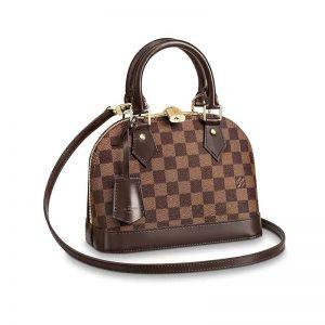 Louis Vuitton LV Women Alma BB Handbag in Graphic Damier Ebene Canvas
